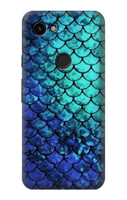 S3047 Green Mermaid Fish Scale Case For Google Pixel 3a