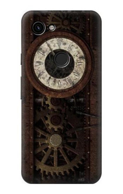 S3221 Steampunk Clock Gears Case For Google Pixel 3a