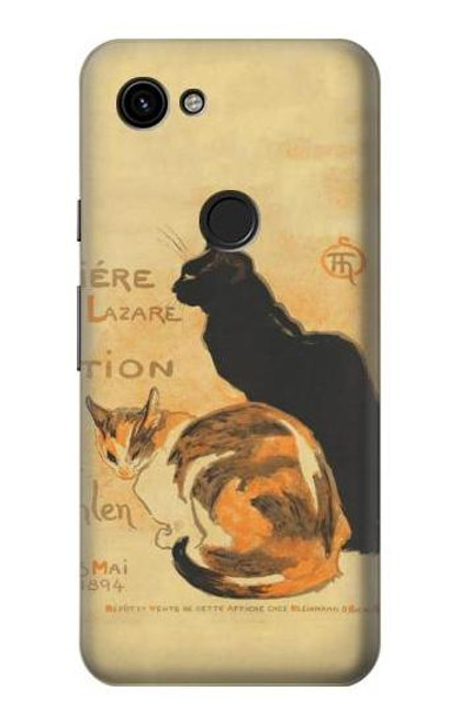 S3229 Vintage Cat Poster Case For Google Pixel 3a