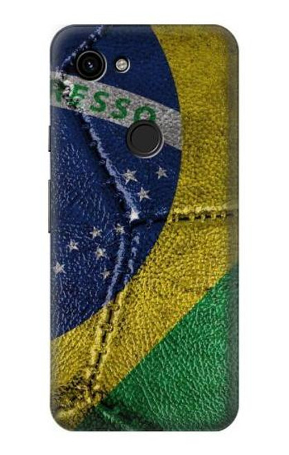 S3297 Brazil Flag Vintage Football Graphic Case For Google Pixel 3a