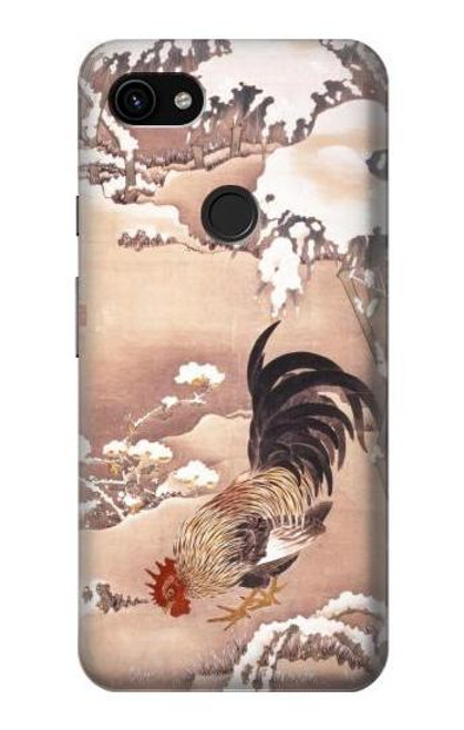 S1332 Ito Jakuchu Rooster Case For Google Pixel 3a XL