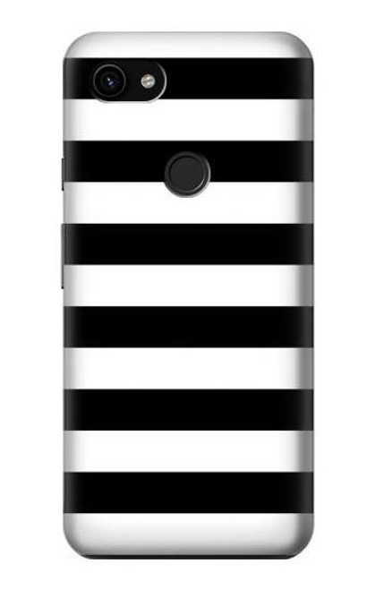 S1596 Black and White Striped Case For Google Pixel 3a XL