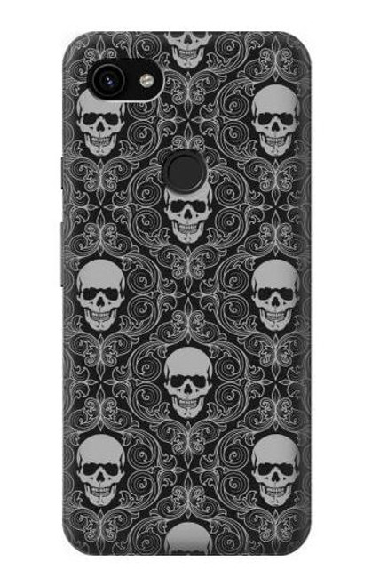S2371 Skull Vintage Monochrome Pattern Case For Google Pixel 3a XL