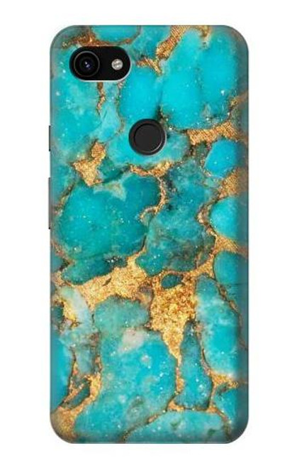 S2906 Aqua Turquoise Stone Case For Google Pixel 3a XL