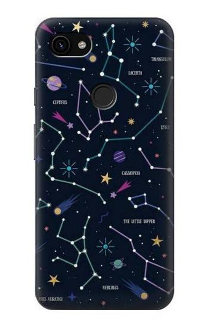 S3220 Star Map Zodiac Constellations Case For Google Pixel 3a XL