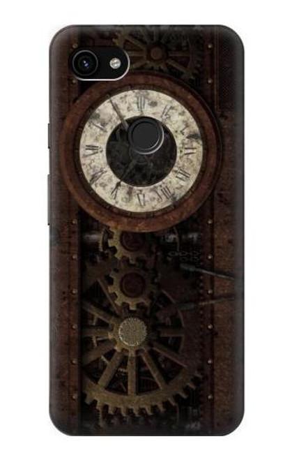 S3221 Steampunk Clock Gears Case For Google Pixel 3a XL