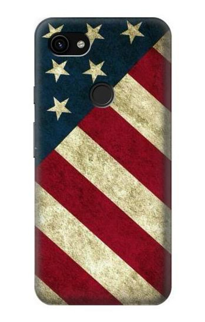 S3295 US National Flag Case For Google Pixel 3a XL