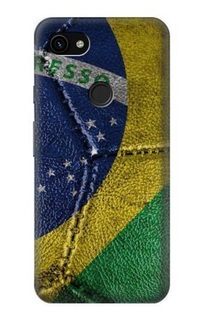 S3297 Brazil Flag Vintage Football Graphic Case For Google Pixel 3a XL