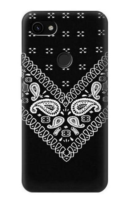 S3363 Bandana Black Pattern Case For Google Pixel 3a XL