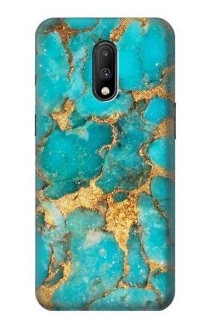 S2906 Aqua Turquoise Stone Case For OnePlus 7