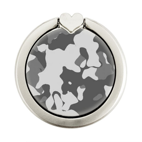 S2186 Gray Camo Camouflage Graphic Printed Graphic Ring Holder and Pop Up Grip