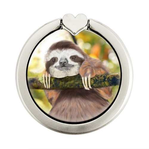 S3138 Cute Baby Sloth Paint Graphic Ring Holder and Pop Up Grip