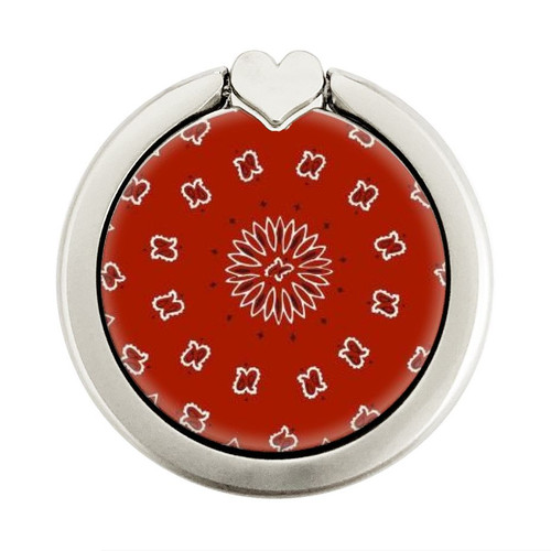 S3355 Bandana Red Pattern Graphic Ring Holder and Pop Up Grip