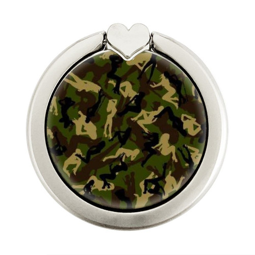 S3356 Sexy Girls Camo Camouflage Graphic Ring Holder and Pop Up Grip