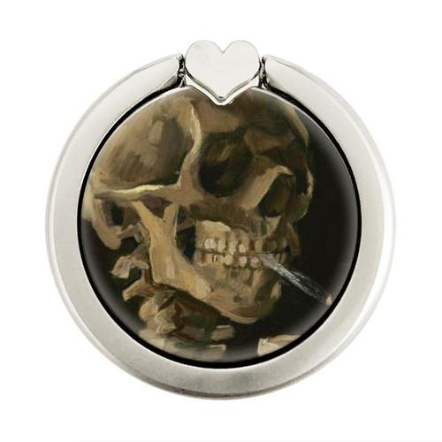 S3358 Vincent Van Gogh Skeleton Cigarette Graphic Ring Holder and Pop Up Grip