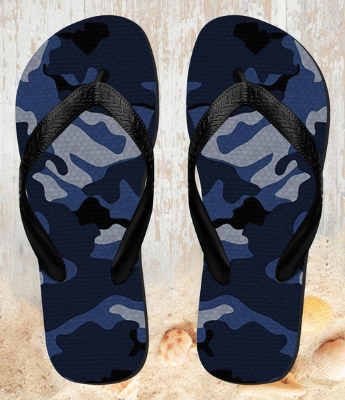 Digital Camo Camouflage Graphic Printed Beach Slippers Sandals Flip Flops