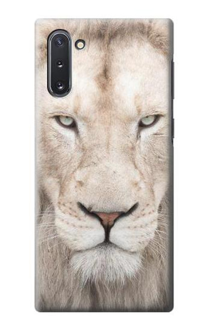 S2399 White Lion Face Case For Samsung Galaxy Note 10