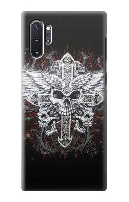 S1434 Skull Wing Tattoo Biker Case For Samsung Galaxy Note 10 Plus