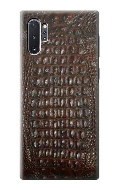 S2850 Brown Skin Alligator Graphic Printed Case For Samsung Galaxy Note 10 Plus