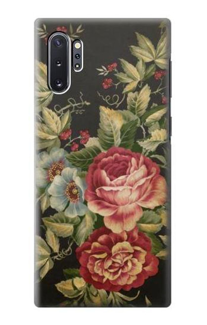 S3013 Vintage Antique Roses Case For Samsung Galaxy Note 10 Plus