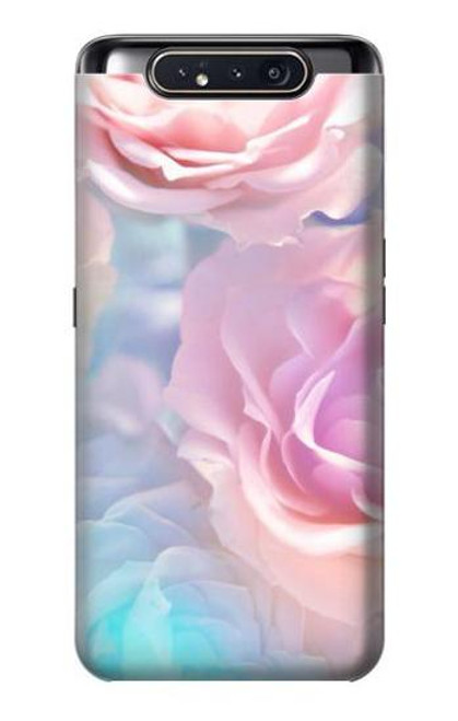 S3050 Vintage Pastel Flowers Case For Samsung Galaxy A80