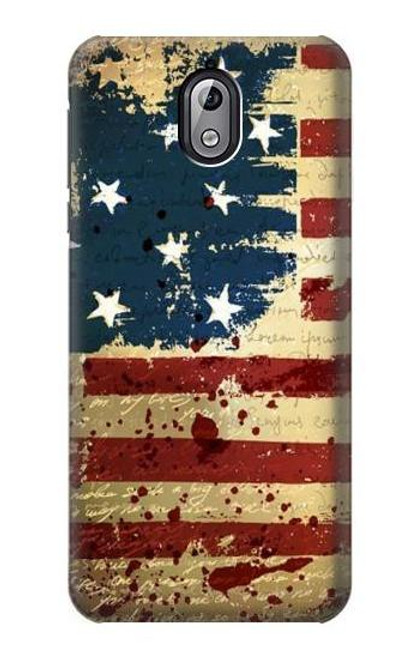 S2349 Old American Flag Case For Nokia 3.1