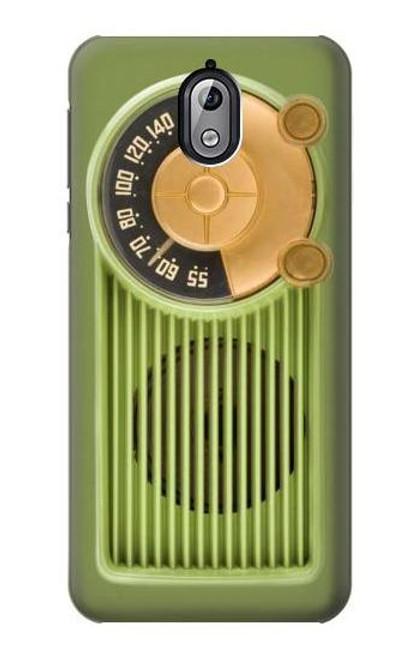 S2656 Vintage Bakelite Radio Green Case For Nokia 3.1