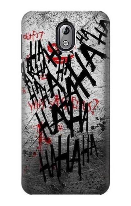 S3073 Joker Hahaha Blood Splash Case For Nokia 3.1