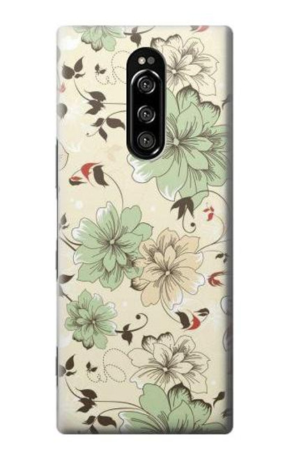 S2179 Flower Floral Vintage Art Pattern Case For Sony Xperia 1