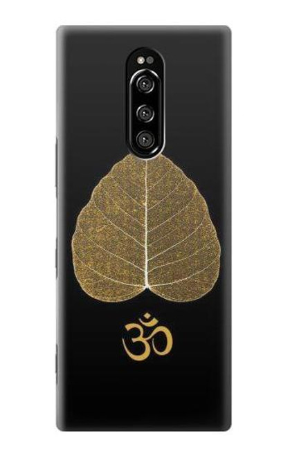 S2331 Gold Leaf Buddhist Om Symbol Case For Sony Xperia 1