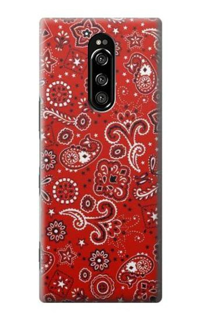 S3354 Red Classic Bandana Case For Sony Xperia 1