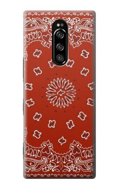 S3355 Bandana Red Pattern Case For Sony Xperia 1
