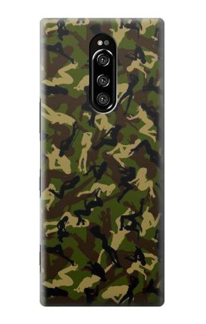 S3356 Sexy Girls Camo Camouflage Case For Sony Xperia 1