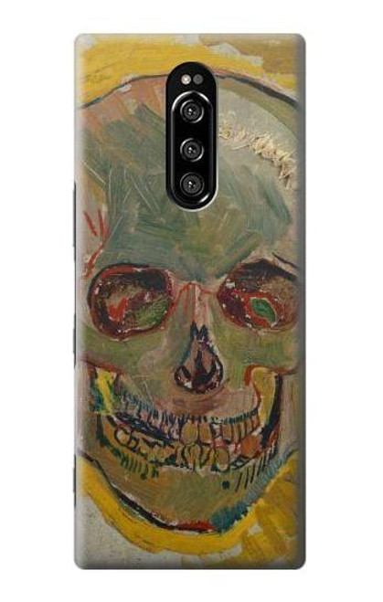 S3359 Vincent Van Gogh Skull Case For Sony Xperia 1