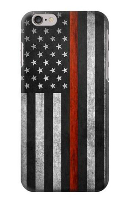 S3472 Firefighter Thin Red Line Flag Case For iPhone 6 6S