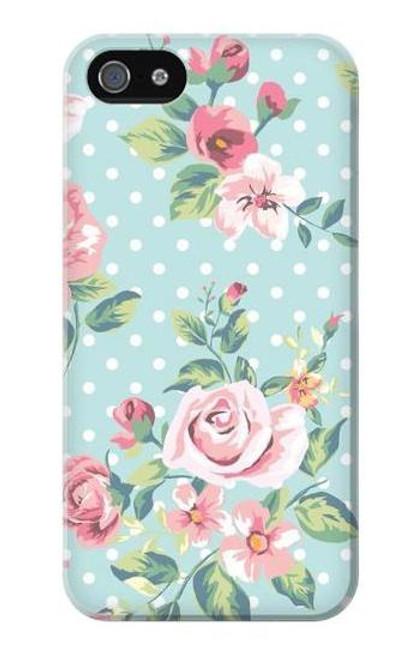 S3494 Vintage Rose Polka Dot Case For iPhone 5 5S SE