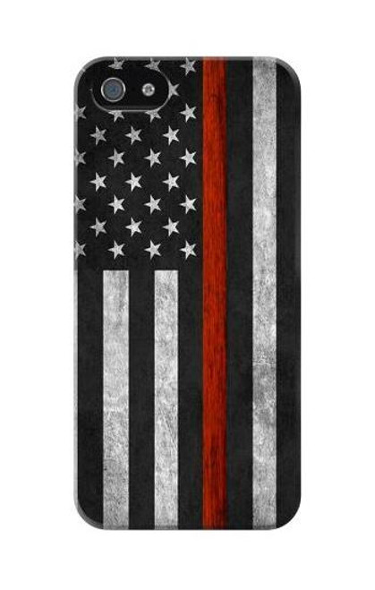 S3472 Firefighter Thin Red Line Flag Case For iPhone 5C