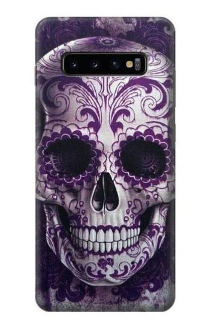 S3582 Purple Sugar Skull Case For Samsung Galaxy S10 Plus