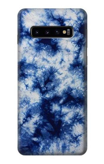S3439 Fabric Indigo Tie Dye Case For Samsung Galaxy S10