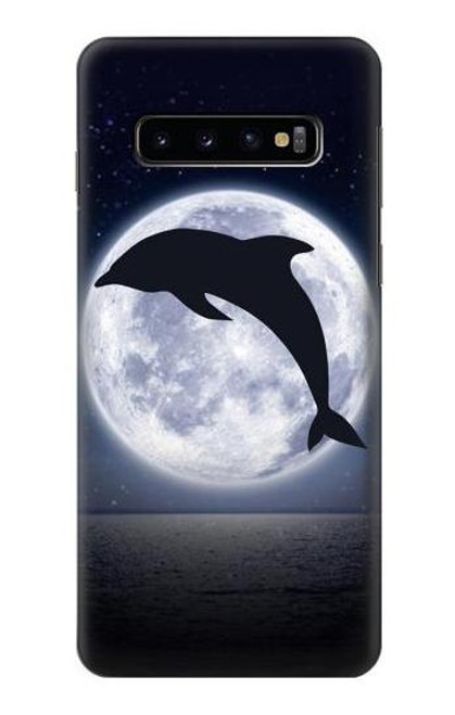 S3510 Dolphin Moon Night Case For Samsung Galaxy S10