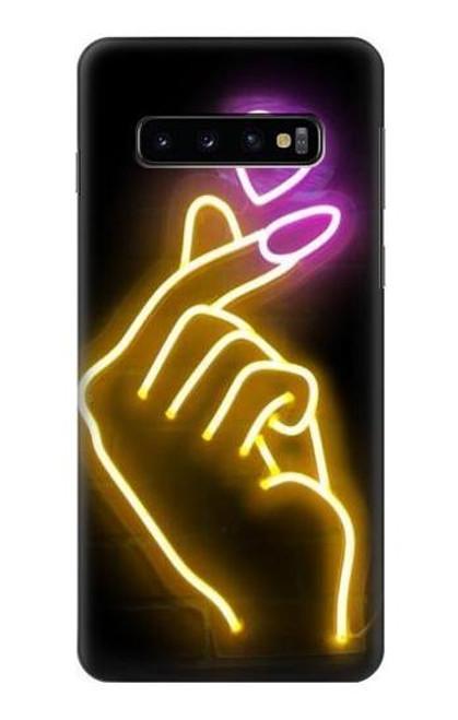 S3512 Cute Mini Heart Neon Graphic Case For Samsung Galaxy S10