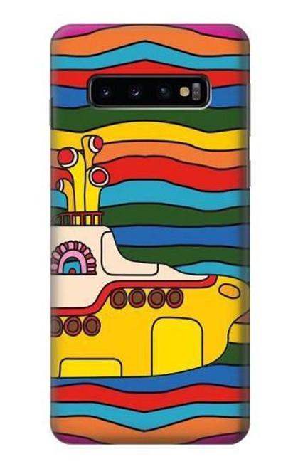 S3599 Hippie Yellow Submarine Case For Samsung Galaxy S10