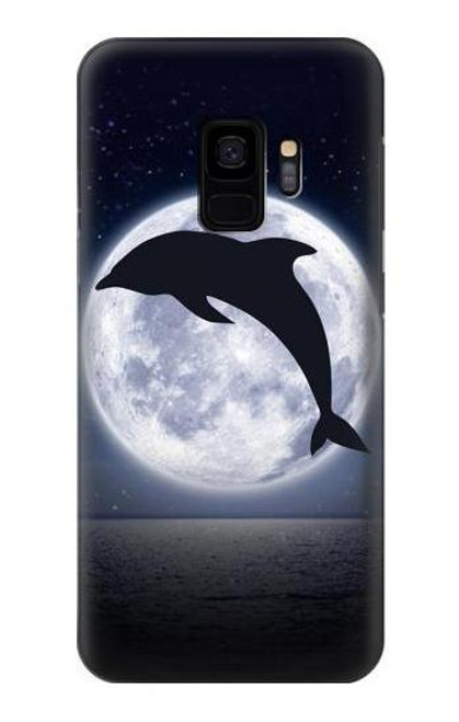 S3510 Dolphin Moon Night Case For Samsung Galaxy S9