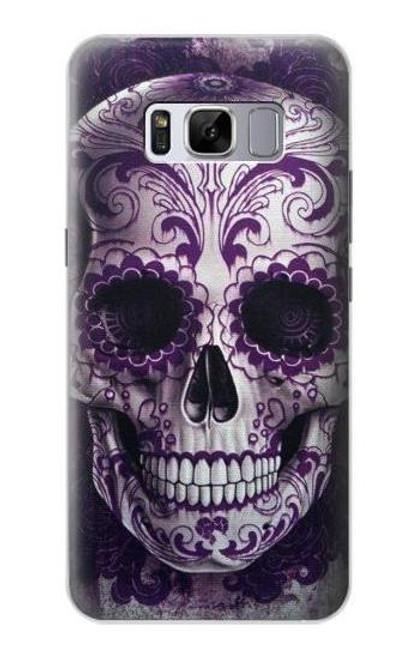 S3582 Purple Sugar Skull Case For Samsung Galaxy S8 Plus
