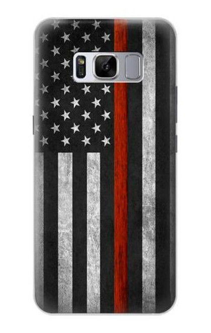 S3472 Firefighter Thin Red Line Flag Case For Samsung Galaxy S8
