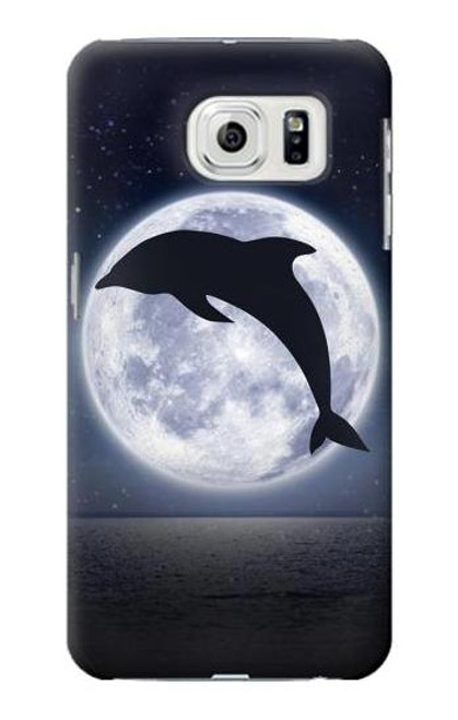 S3510 Dolphin Moon Night Case For Samsung Galaxy S7 Edge
