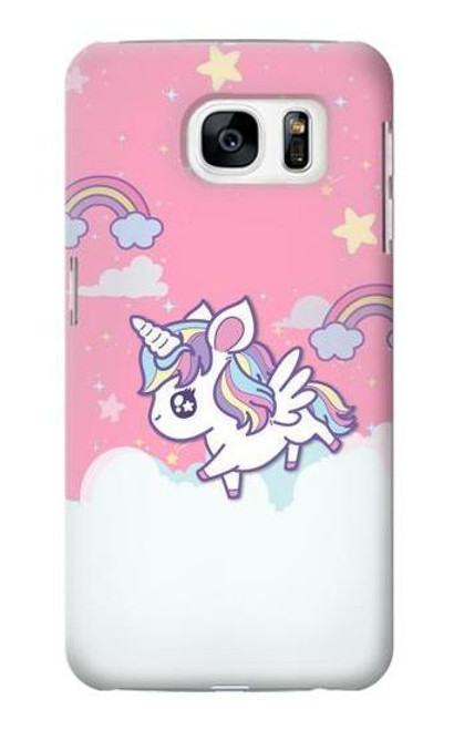S3518 Unicorn Cartoon Case For Samsung Galaxy S7