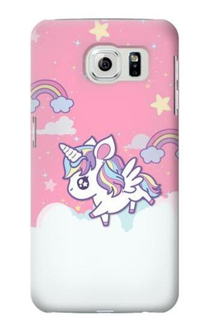 S3518 Unicorn Cartoon Case For Samsung Galaxy S6 Edge