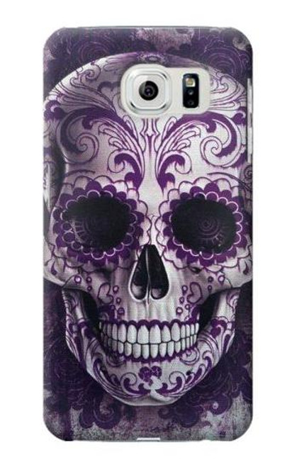 S3582 Purple Sugar Skull Case For Samsung Galaxy S6 Edge