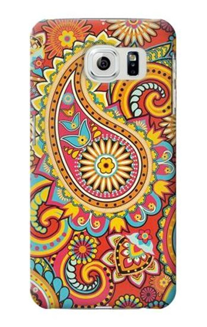 S3402 Floral Paisley Pattern Seamless Case For Samsung Galaxy S6